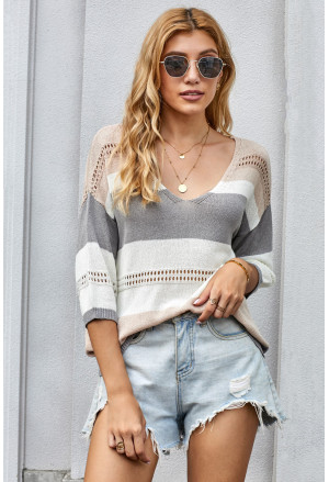 Long Sleeve Loose Casual Knit Top