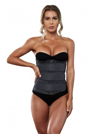 5 Steel Bones Neoprene Belt Waist Trainer with Hook
