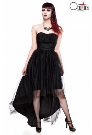 Strapless dress with flared skirt