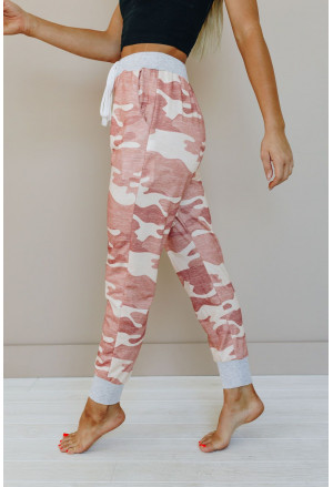 Camo Print Knit Sport Pants