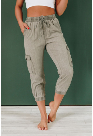 Drawstring Cargo Pocketed Joggers