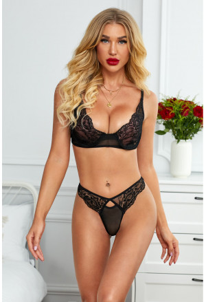 Black Signature Balcony Bra&Thong