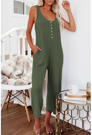 Pocketed Thermal Sleeveless Jumpsuit