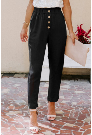 Linen Blend Pocketed Pants