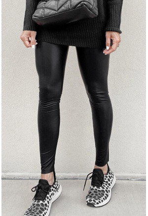 Faux Leather Stretchy Tight Leggings
