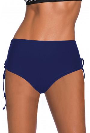 Drawstring Ruched Sides High Waist Swim Panty