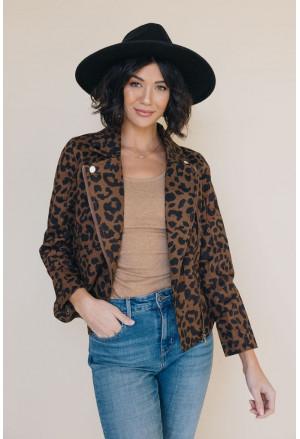Baroque Leopard Print Bomber Jacket