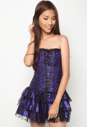 Corset purple flamengo dress Carmen