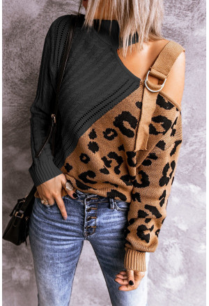 Asymmetrical Buckle Sweater