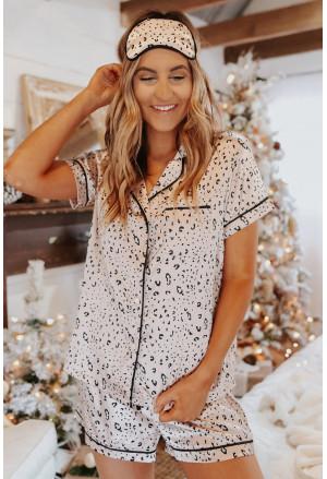 Satin Short Sleeve Shirt and Shorts Pajama Set