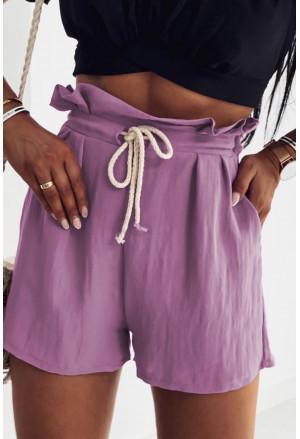 Frilled Drawstring Waist High Rise Shorts