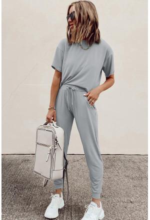 Cozy Cotton T-shirt Pants Set