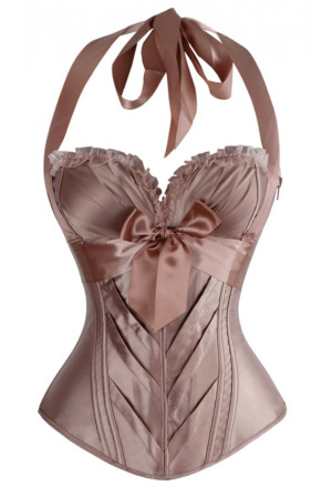 High quality violet champagne soft cups corset