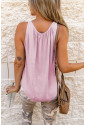 Hollow-out Tank Top