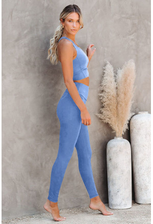 Crop Yoga Bra and High Waist Leggings Sports Wear
