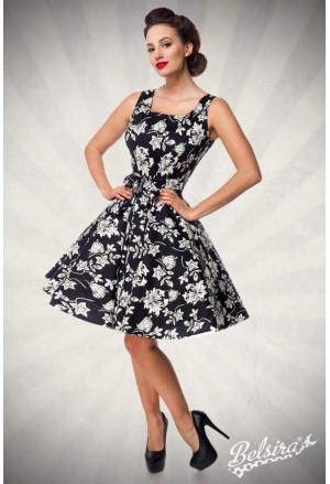 Black and white floral retro dress Belsira