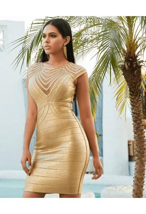 Exclusive gold bandage dress CLEOPATRA