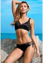 Ruched Criss Cross Self-tie Drawstring Bikini Set