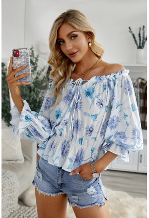 Floral Print Off the Shoulder Blouse