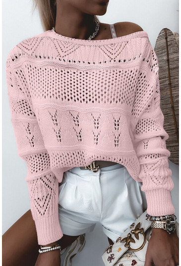 Drop Shoulder Knitted Pullover Sweater