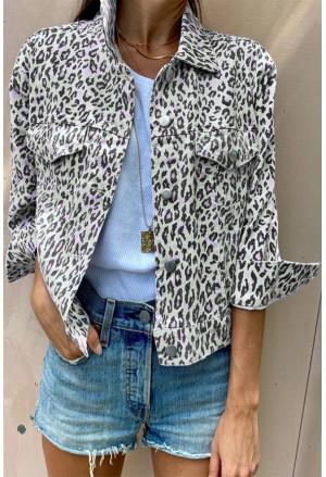 Leopard Print Casual Jacket