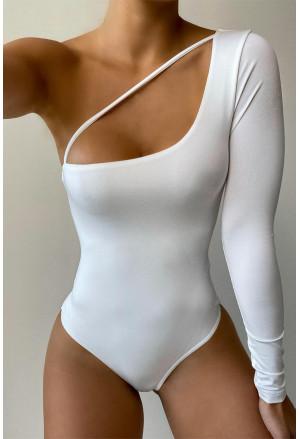Cut-out One Shoulder Bodysuit