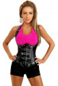 Luxury punk leatherette corset under breast