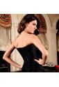 Luxury black push up social brocade corset