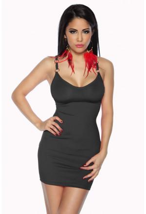 Mini čierne šaty alebo top